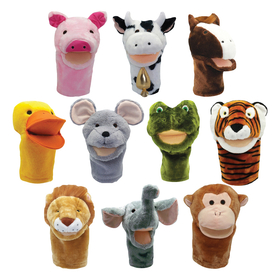Get Ready Kids MTB200999 Plushpups Hand Puppets Set Of 10, Price/ST
