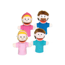 Get Ready Kids MTB350 Family Bigmouth Puppets Caucasian Family Of 4