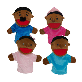 Get Ready Kids MTB360 Family Bigmouth Puppets African American Family Of 4, Price/EA