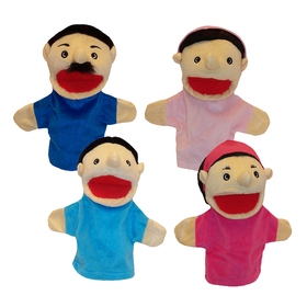 Get Ready Kids MTB370 Family Bigmouth Puppets Hispanic Family Of 4, Price/EA