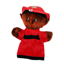 Get Ready Kids MTB466 Black Firefighter Puppet