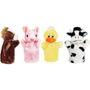 Get Ready Kids MTB9006 Farm Puppet Set I Includes Duck Pig Horse And Cow