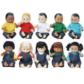 Marvel Education MTC5002 Dolls Multi-Ethnic 10-Doll School Set, Price/EA