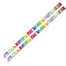 Musgrave Pencil Co MUS1361D Happy Birthday Fiesta 12Pk Pencil