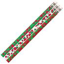 Musgrave Pencil Co MUS2528D Dots Of Christmas Fun Pencil 12 Pk