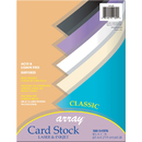 Pacon PAC101189 Array Card Stock Classic Colors 100 Count 8.5 X 11