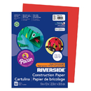 Pacon PAC103442 Riverside 9X12 Holiday Red 50 Sht Construction Paper