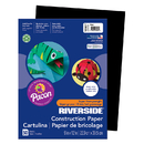 Pacon PAC103607 Riverside 9X12 Black 50 Sht Construction Paper