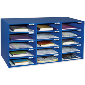 Pacon PAC1308 Mail Box - 15 Mail Slots Blue, Price/EA
