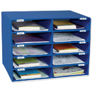 Pacon PAC1309 Mail Box - 10 Mail Slots Blue