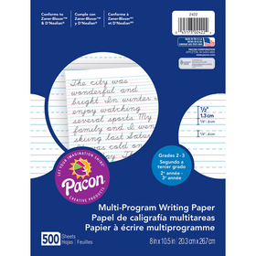 Pacon PAC2422 Writing Paper 500 Sht 8X10.5 1/2 In Rule Short Rule, Price/EA