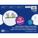 Pacon PAC2424 Picture Story Paper 500 Sht 12 X 9 1/2 In Long Rule