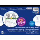 Pacon PAC2484 Picture Story Paper 40 Sht 12X9 1/2 In Rulelong