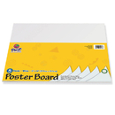 Pacon PAC5417 Peacock Poster Board Packs White