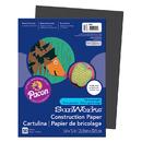 Pacon PAC6303 Construction Paper Black 9X12
