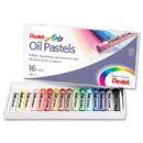 Pentel Of America PENPHN16 Pentel Oil Pastels 16 Ct