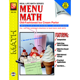 Remedia Publications REM101B Menu Math Ice Cream Parlor Book-2 Multi, Price/EA