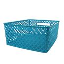 Romanoff Products ROM74108 Medium Turquoise Woven Basket