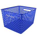 Romanoff Products ROM74204 Large Blue Woven Basket