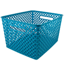 Romanoff Products ROM74208 Large Turquoise Woven Basket