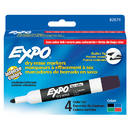 Sanford L.P. SAN82074 Marker Expo 2 Dry Erase 4 Clr Bull Black Red Blue Green