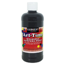 Sargent Art SAR173485 Black Art-Time Washable Paint 16 Oz