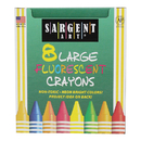 Sargent Art SAR220551 Crayons Fluorescent Large 8 - Colors