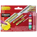 Sargent Art SAR221506 Liquid Metals Metallic 6 Ct Washable Markers