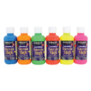 Sargent Art SAR227099 Fluorescent 6 Color Washable Watercolor Magic Assortment