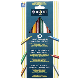 Sargent Art SAR227210 Easy Grip Triangle Colored 10-Set Pencils Pre-Sharpened, Price/EA