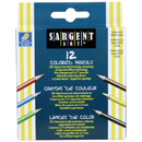 Sargent Art SAR227214 Half-Sized Colored Pencils 12 Color Set