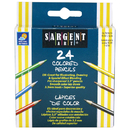 Sargent Art SAR227218 Half-Sized Colored Pencils 24 Color Set