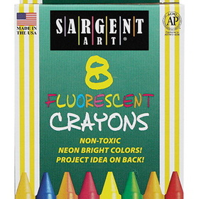 Sargent Art SAR350535 Crayons Fluorescent 8 Count Tuck Box, Price/BX