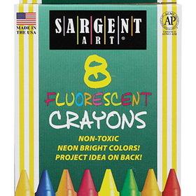 Sargent Art SAR350535 Crayons Fluorescent 8 Count Tuck Box, Price/BX