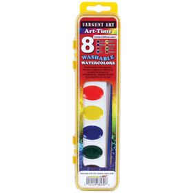 Sargent Art SAR668230 8 Semi Moist Watercolors Washable, Price/EA