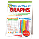 Scholastic Teaching Resources SC-0439720877 10 Write On Wipe Off Graphs Flip Chart