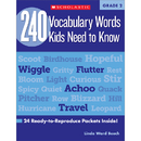 Scholastic Teaching Resources SC-546051 240 Vocabulary Words Kids Need To Know Gr 2