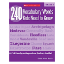 Scholastic Teaching Resources SC-546865 240 Vocabulary Words Kids Need To Know Gr 5