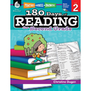 Shell Education SEP50923 180 Days Of Reading Book For Second Grade