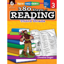 Shell Education SEP50924 180 Days Of Reading Book For Third Grade