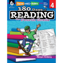 Shell Education SEP50925 180 Days Of Reading Book For Fourth Grade