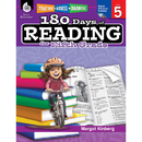 Shell Education SEP50926 180 Days Of Reading Book For Fifth Grade