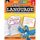 Shell Education SEP51168 180 Days Of Language Gr 3
