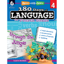 Shell Education SEP51169 180 Days Of Language Gr 4