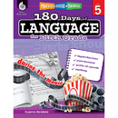 Shell Education SEP51170 180 Days Of Language Gr 5