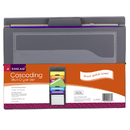 Smead Manufacturing SMD92060 Smead Cascading Wall Organizer Gray - With Bright Pockets