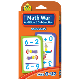 School Zone Publishing SZP05016 Math War Addition & Subtraction Game Cards, Price/EA