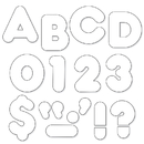 Trend Enterprises T-1567 Ready Letters 4 Inch Casual White
