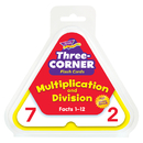 Trend Enterprises T-1671 Three-Corner Flash Cards 48/Pk Multiplication & Division
