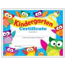 Trend Enterprises T-17009 Kindergarten Certificate Owl Stars